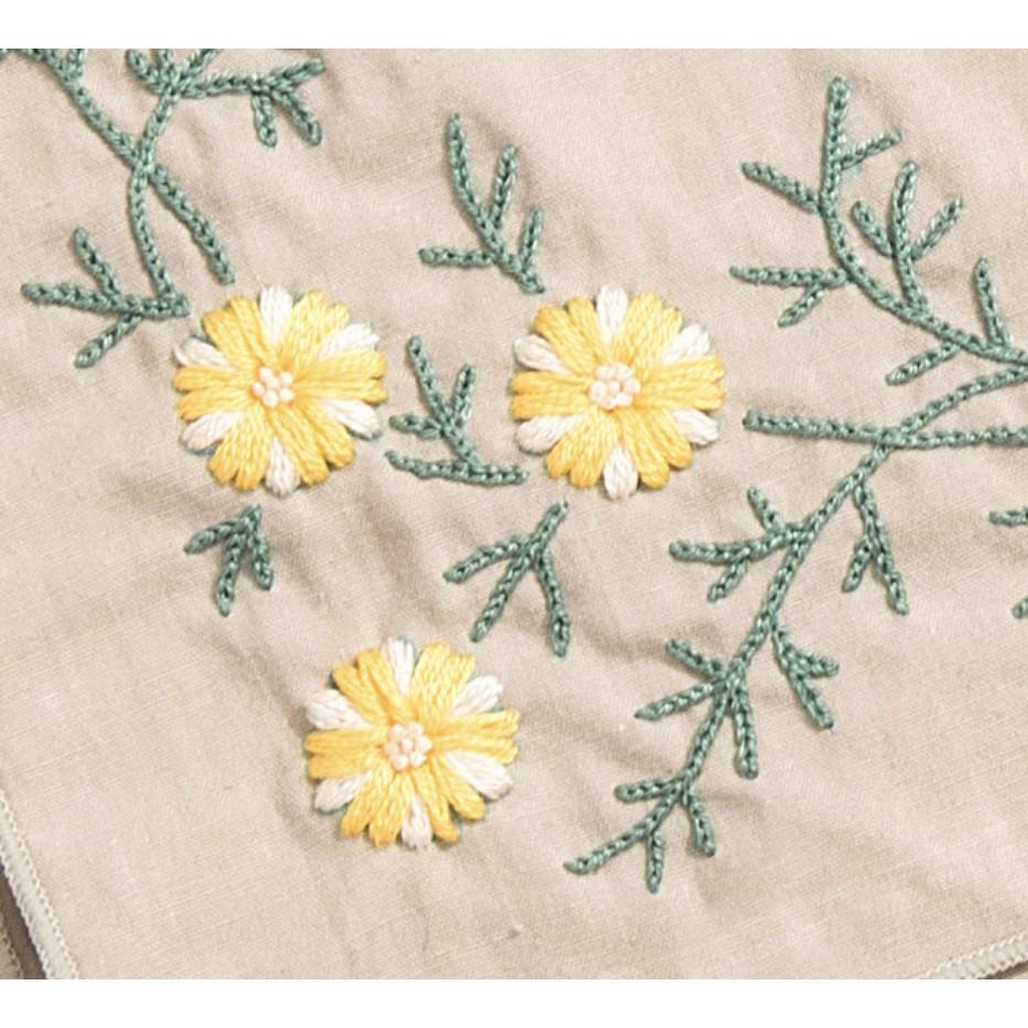 DIY gói nguyên liệu thêu khăn hoa nhí