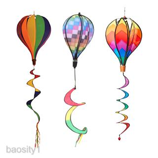 3Pcs Hot Air Balloon Windmill Wind sock Garden Lawn Festival Decor Accs 55″