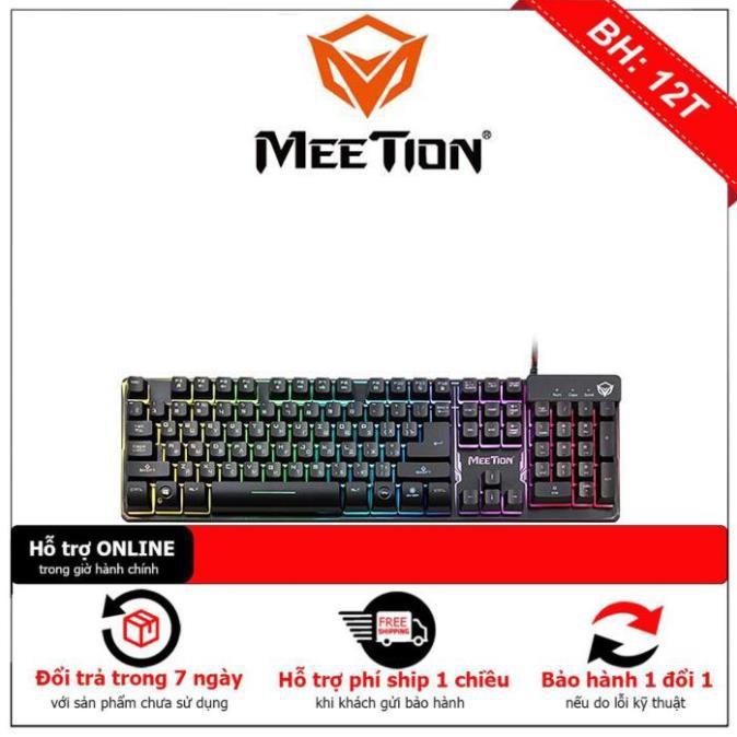 [BH12TH] Bàn phím giả cơ Gaming chính hãng Meetion K9300 có đèn Led 7 màu