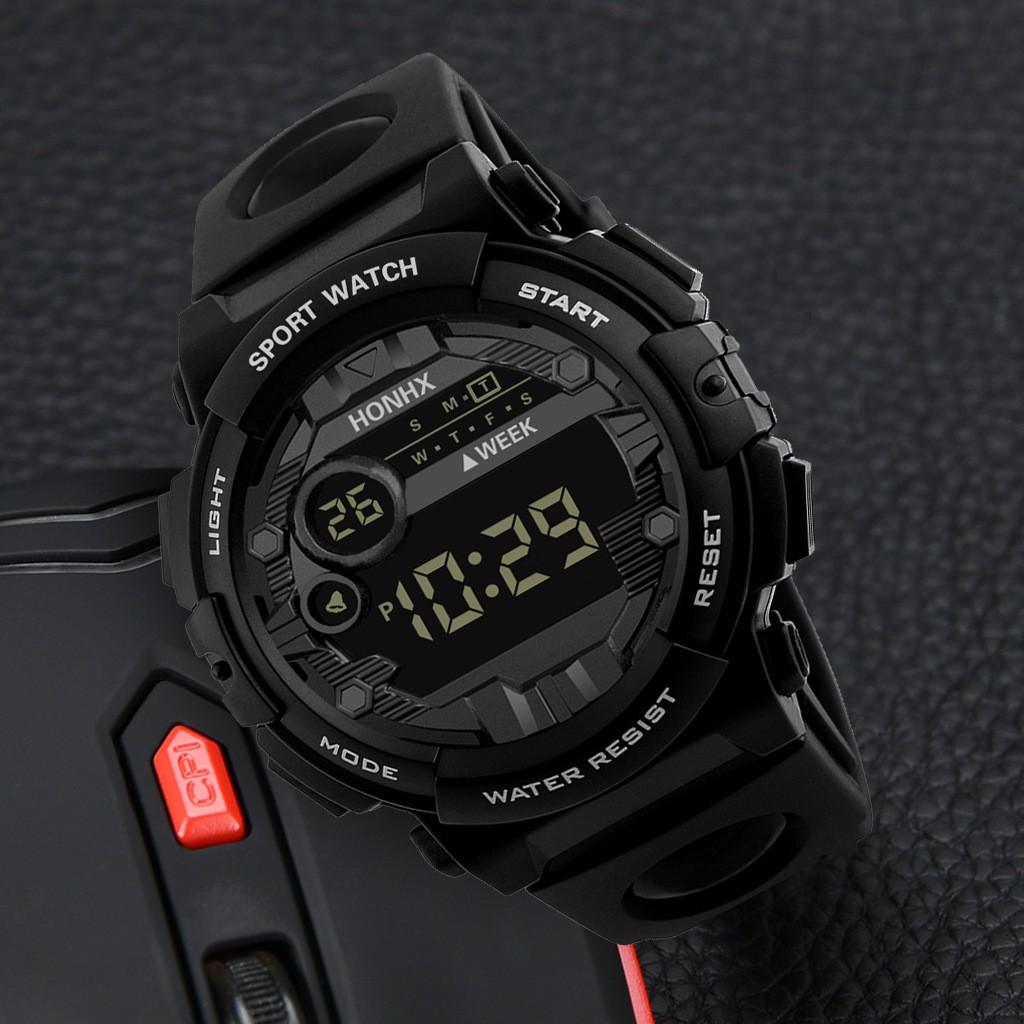Đồng hồ thể thao nam nữ Honhx HX01 điện tử, dây cao su cực bền, full chức năng, có đèn led xem giờ ban đêm