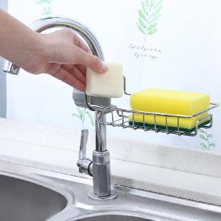 [Mã HLHOAN1212 hoàn 20K xu đơn 50K] Khay inox Thoát Nước gắn vòi nước 11x17.5cm Tiện Lợi thumbnail