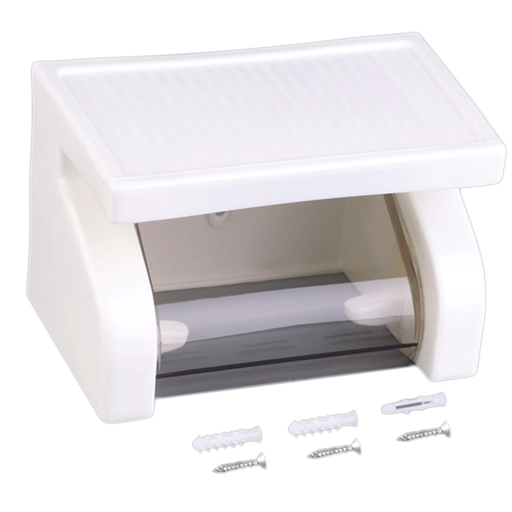 Waterproof Toilet Paper Holder Tissue Roll Box Durable Bathroom Accessories Wall Mounted Plastic
