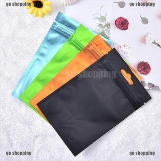 go shopping 10pcs 10 18cm mulitcolor flat aluminum foil bag storage package pouch self seal thumbnail