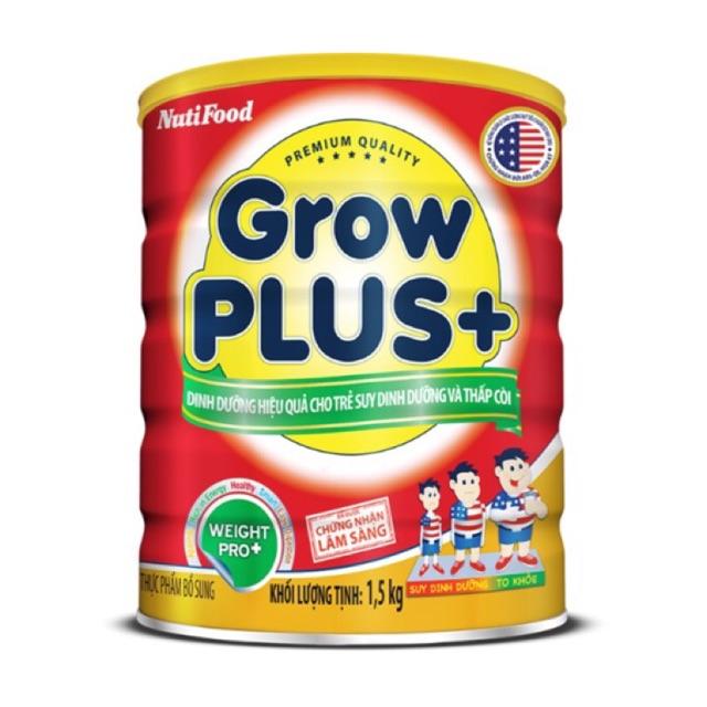 (Mẫu mới) Sữa Nutifood grow plus đỏ cho trẻ suy dinh dưỡng thấp còi loại 1500g