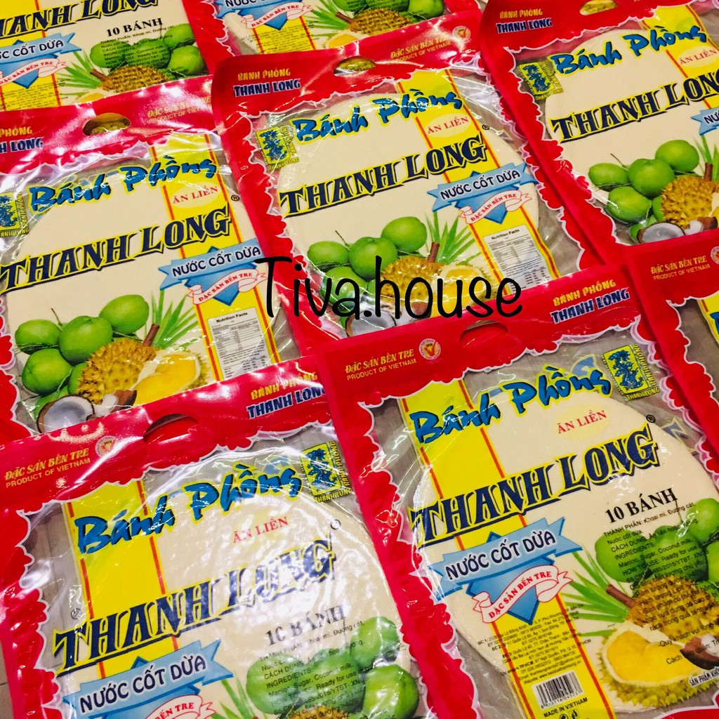 Bánh tráng sữa dạng bánh phồng sữa Bến Tre nước cốt dừa Thanh Long vàng