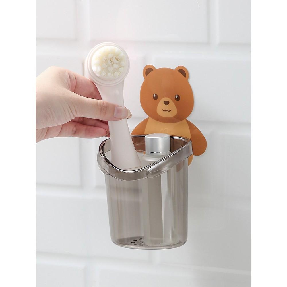 [Cốc gấu đựng bàn chải kem đánh răng Cốc gấu dán tường siêu dính ⭐FREESHIP⭐