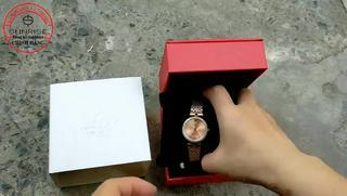Đồng hồ nữ siêu mỏng Sunrise 9967AA ĐÍNH ĐÁ kính Sapphire chống xước chống nước tốt