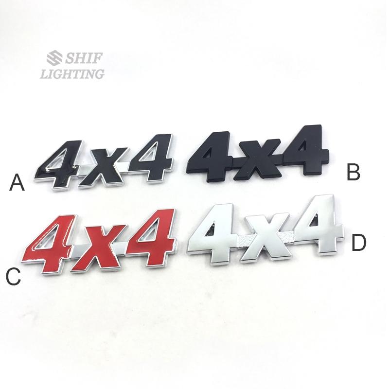1 x Metal 4X4 Letter Car Auto Side Fender Rear Trunk Lid Emblem Sticker Badge Decal Logo