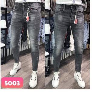 Quần jean nam wash bạc ôm body 5003 có size đại