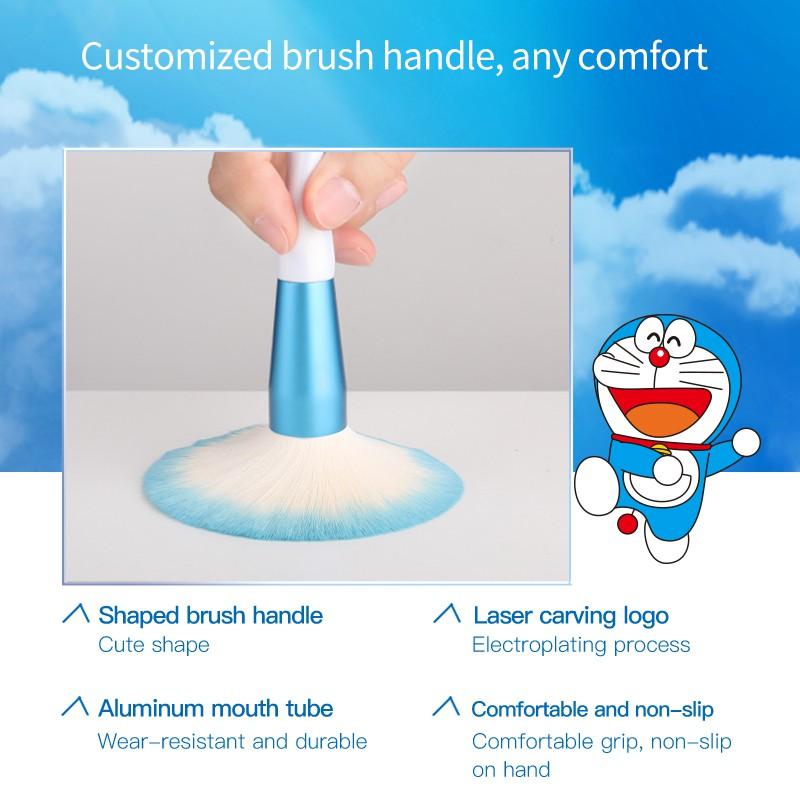 Set 8 Cọ Trang Điểm COLORKEY Cán Hình Doraemon
