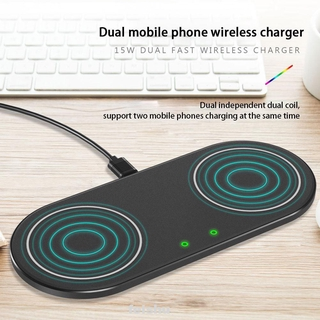 Aluminum Alloy Universal Portable 2 In1 15W Sensitive Induction Low Temperature Protection Wireless Charger