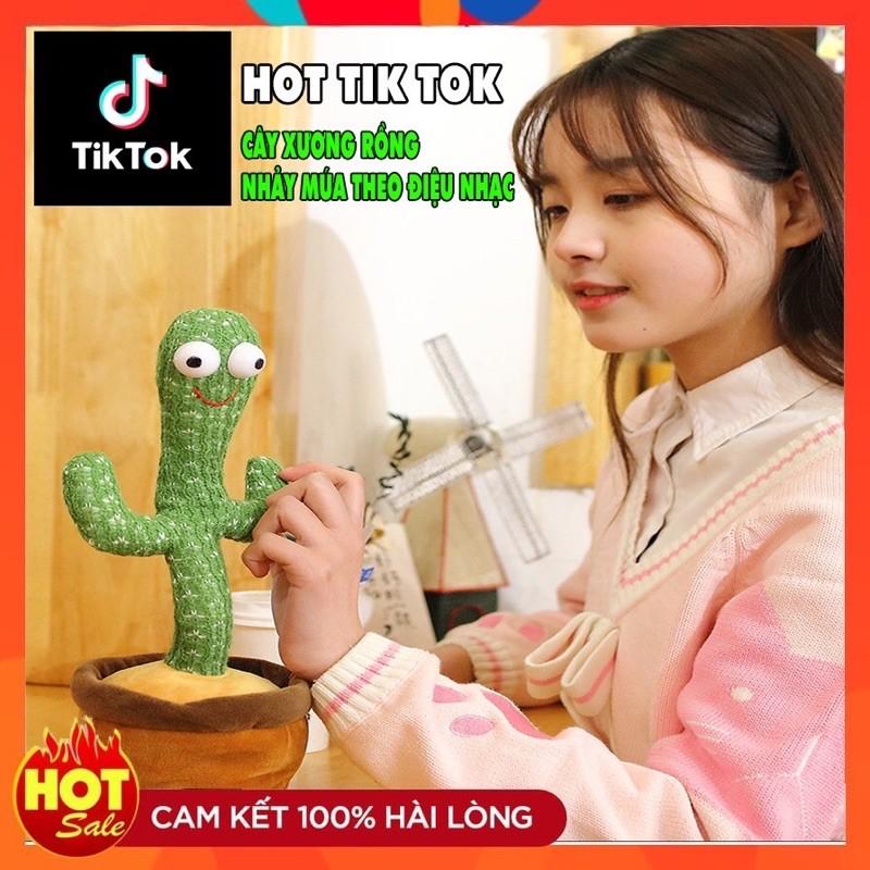 [Hot Trend] Xương Rồng Nhảy Múa Tiếng Việt, Nhại Giọng, Có Đèn Led Mẫu Mới Nhất 2021