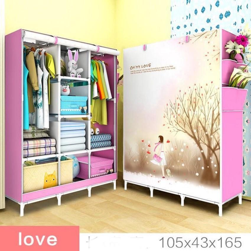 Tủ quần áo 3 buồng 8 ngăn 3D cao cấp (Hồng) - 3147611 , 170346654 , 322_170346654 , 220000 , Tu-quan-ao-3-buong-8-ngan-3D-cao-cap-Hong-322_170346654 , shopee.vn , Tủ quần áo 3 buồng 8 ngăn 3D cao cấp (Hồng)