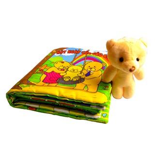 Sách vải Một ngày của Gấu Boo