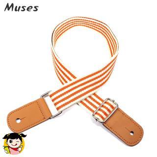 Fashion Orange Stripes Guitar Ukulele Strap