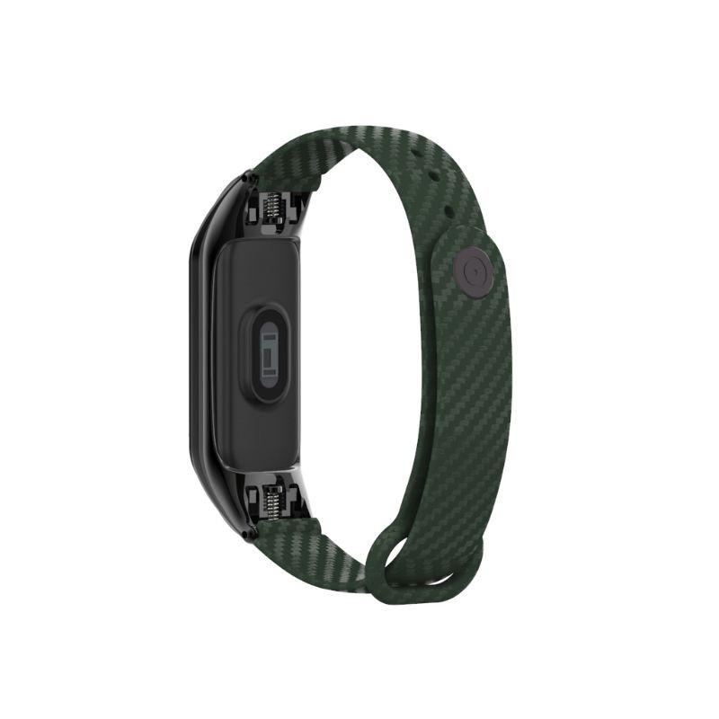Dây đeo silicon viền khung kim loại thời trang cho đồng hồ thông minh Xiaomi Mi Band 3