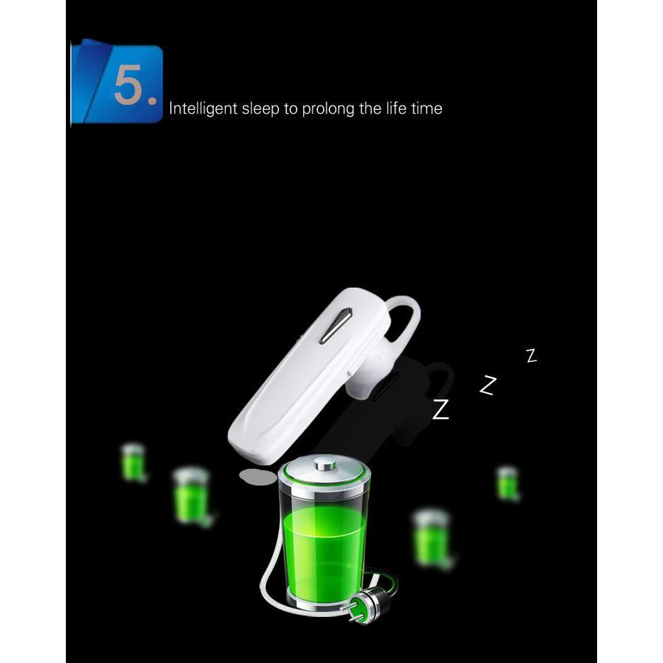 Tai nghe Bluetooth không dây nhét tai nghe nhạc đàm thoại mã 163h
