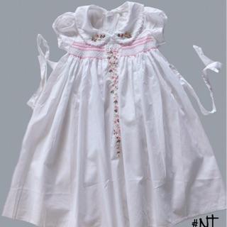 Váy Trẻ Em Thêu Smock Xuất Khẩu Châu Âu