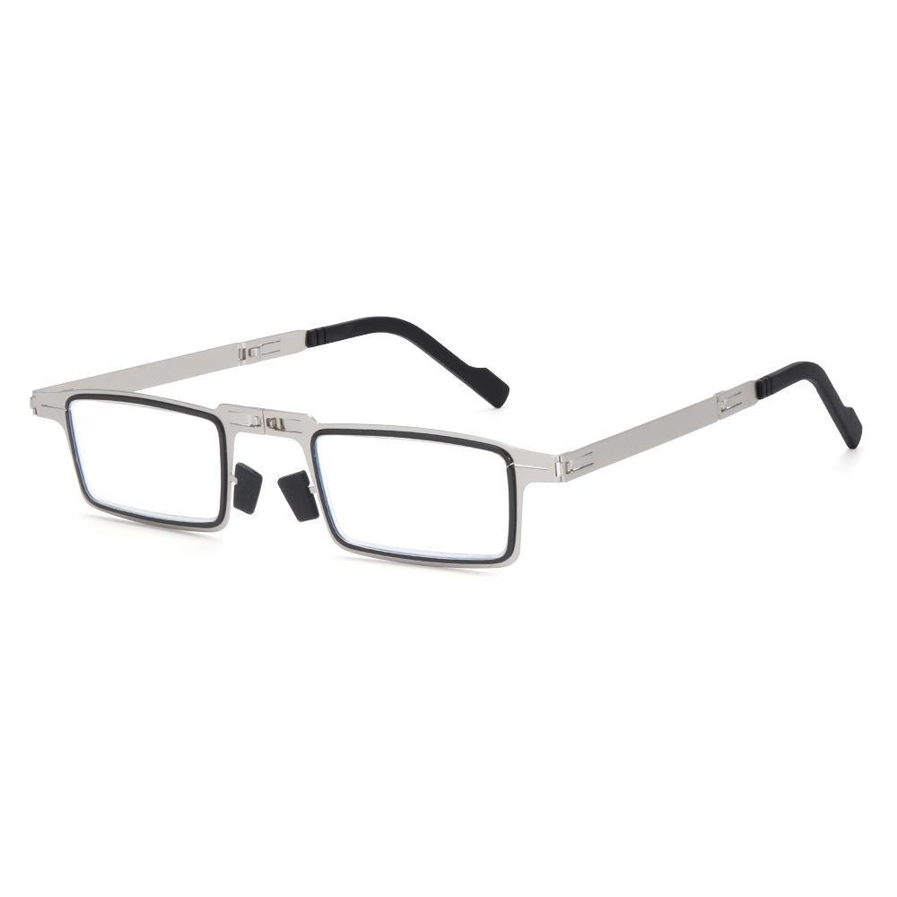 MOILY Fashion Foldable Reading Glasses Portable Readers Glasses with Case Blue Light Reading Glasses Anti UV400 Women Men Anti Eyestrain...