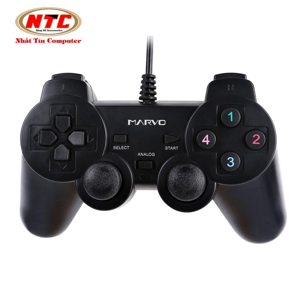 Tay cầm chơi game có dây cao cấp Marvo GT-006 (Đen) - 2495710 , 448741179 , 322_448741179 , 146000 , Tay-cam-choi-game-co-day-cao-cap-Marvo-GT-006-Den-322_448741179 , shopee.vn , Tay cầm chơi game có dây cao cấp Marvo GT-006 (Đen)