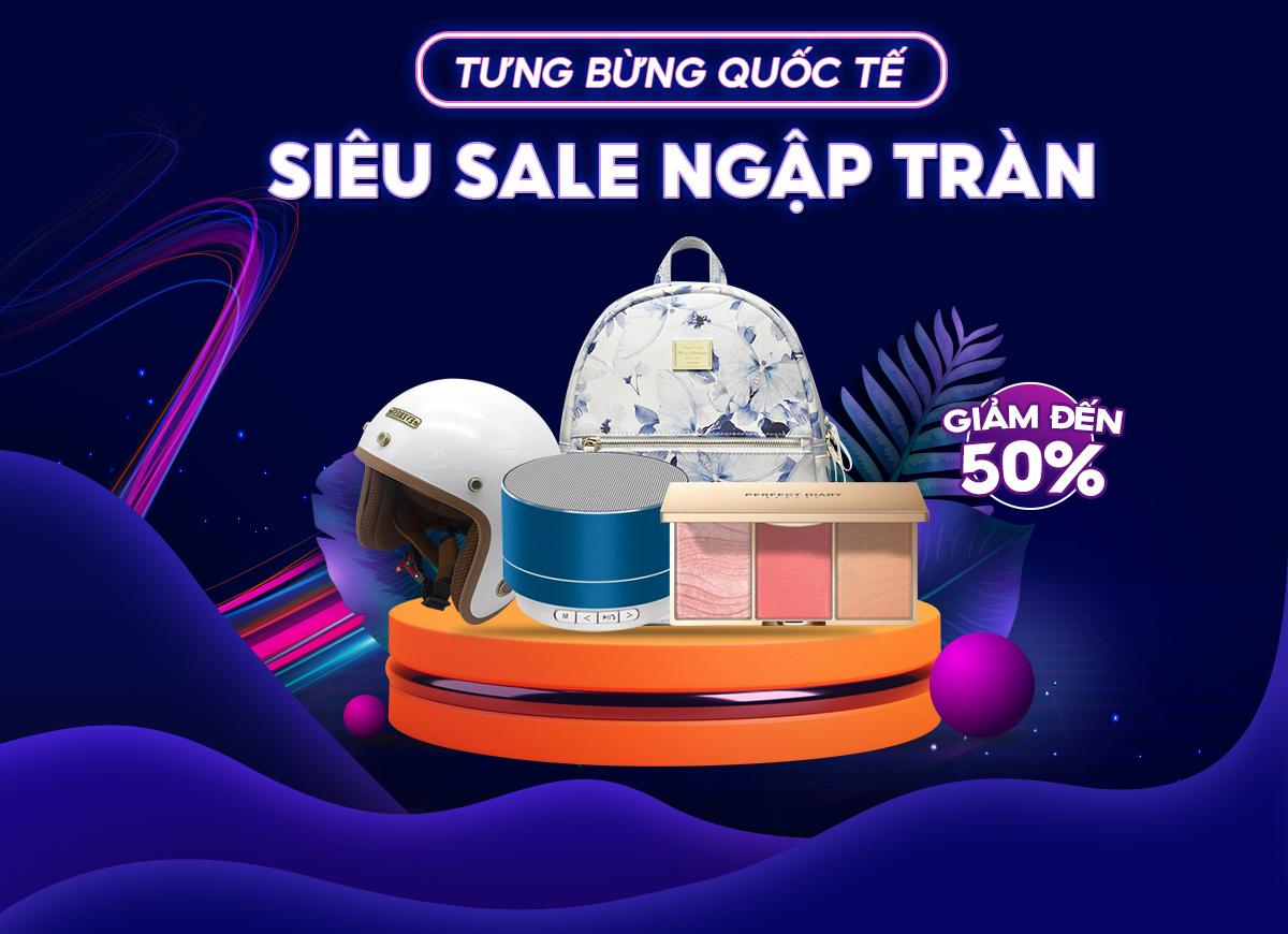 Shopee - Hàng quốc tế giảm 50%