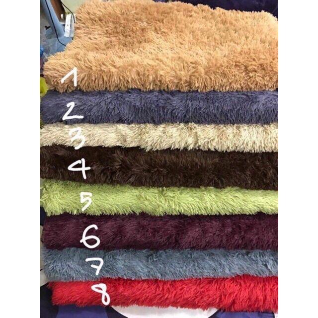 Thảm lông trải sàn size 1m6 x 2m (Đủ Màu ) - Hàng loại 1 có mặt chống trượt lông dài