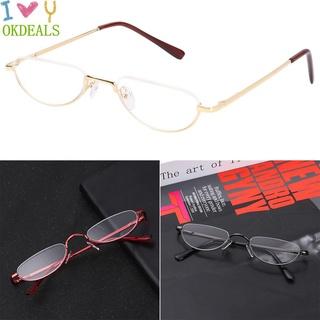 💎OKDEALS💎 New Fashion Eyeglasses Magnifying Vision Care Reading Glasses Flexible Portable Ultra Light Resin Eye wear Spring Hinge Metal Unisex +1.00~+4.0 Diopter/Multicolor