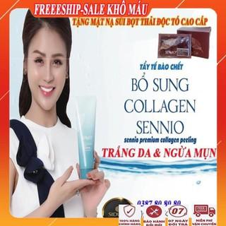 [FreeShip – MUA 1 TẶNG 1] Gel tẩy tế bào chết bổ sung collagen sennio/Tẩy da chết body trắng da, ngăn ngừa mụn