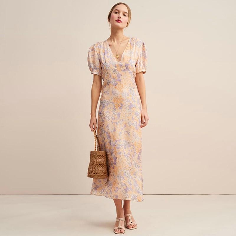 Đầm Zara dáng dài hoa nhí màu siêu xinh DH81DDG59N8