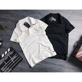 [ Hàng xịn ] Áo thun nam thể thao cao cấp – Áo thun nam cổ bẻ trắng đen