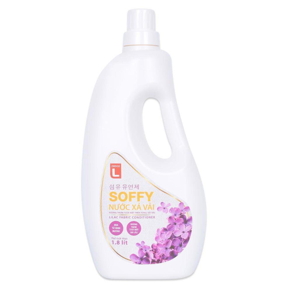 Nước Xả Vải Soffy Hoa Tử Đinh Hương Choice L (CL) Chai 1.8L