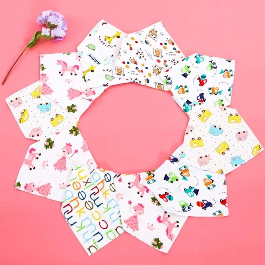 Combo 10 khăn yếm tam giác chất đẹp cho bé