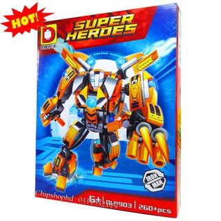 Bộ Lego Lắp Ráp Ninjago Super Heroes Iron Man. Gồm 260 Chi Tiết. Lego Xép Hình Đồ Chơi Cho Bé