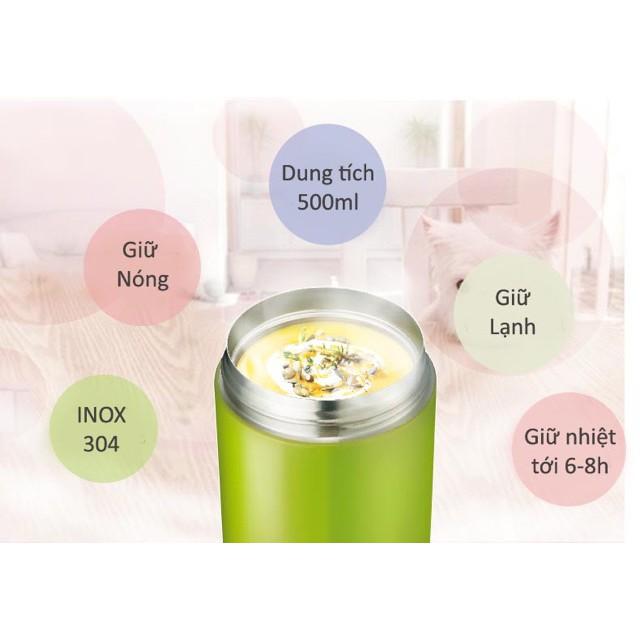 Bình ủ cháo giữ nhiệt, ủ đỗ đen detox Lock&Lock LHC8024 (500ml)-Giữ nhiệt đến 8 tiếng