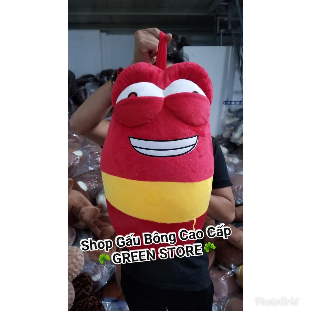 Rẻ nhất shopee] Chú sâu larva đỏ siêu đáng yêu khổ 1M, Giá tháng 4/2021