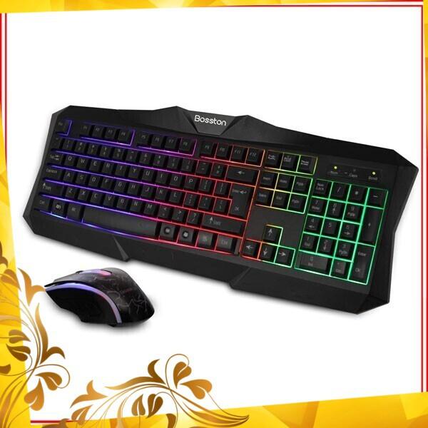 [Quá Rẻ] Combo bàn phím và chuột game Bosston 837 USB có dây Giá chỉ 180.700₫