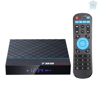 【E&V】T95 MAX Plus Smart TV Box Android 9.0 S905X3 64 Bit 2.4G+5G Dual-band WiFi UHD 8K VP9 H.265 4GB/64GB