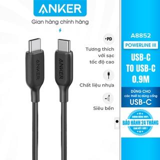 Cáp ANKER PowerLine III USB-C to USB-C dài 0.9m - A8852 thumbnail