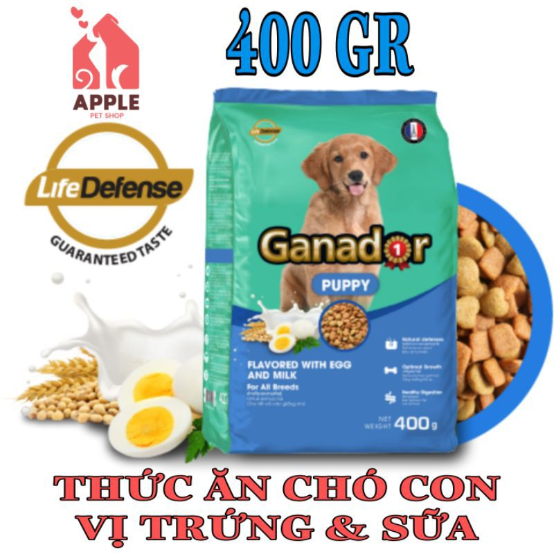 [GANADOR VỊ TRỨNG SỮA] [400GR] Thức ăn cao cấp dành cho cún con