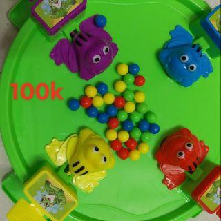 Thanh lý đồ chơi Ếch tranh ăn bi / đậu size lớn 36cm