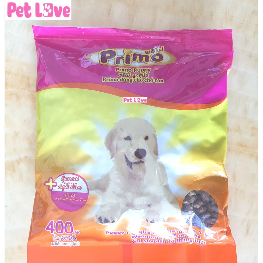 Thức ăn hạt Primo cho chó con (gói 400g)