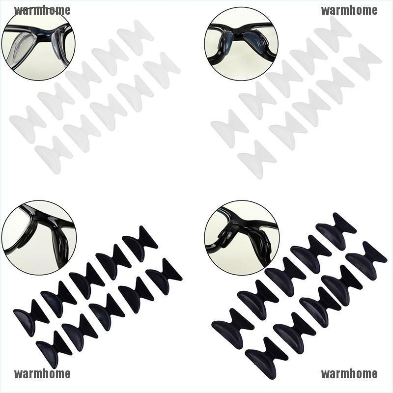 [warmhome]5Pairs Glasses Eyeglass Sunglass Spectacles Anti-Slip Silicone Stick On Nose Pad