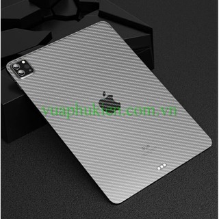 Dán lưng vân cho iPad Mini 1/2/3/4/5, iPad Air, iPad 9.7/10.2/10.5/10.9 inch, iPad Pro 11/12.9 inch vân carbon 3D