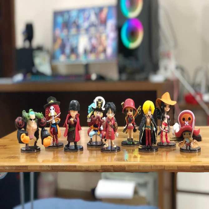 Combo Bộ 9 Mô Hình One Piece - Team Luffy Bản Đẹp Cực Chất
