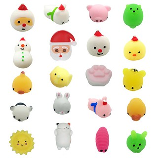 20PC Christmas Toys Mini Cute Squeeze Funny Toy Soft Stress Relief Toy DIY Decor