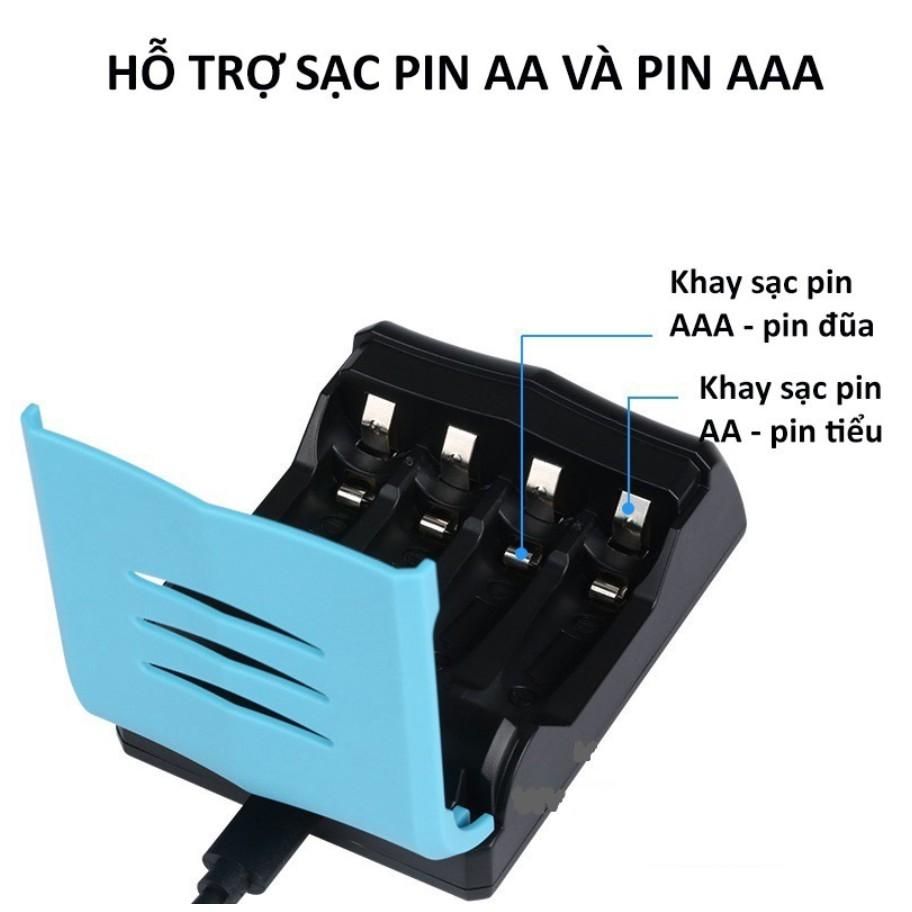 Combo 4 pin AA, AAA kèm sạc nhanh thông minh có màn LCD BESTON - Kyto Shop
