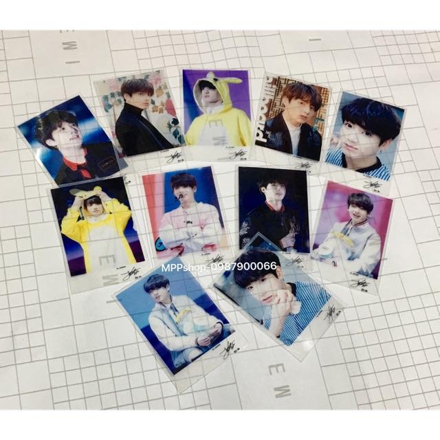 Combo 7 card polaroid trong suốt JUNGKOOK BTs có chữ ký ngẫu nhiên