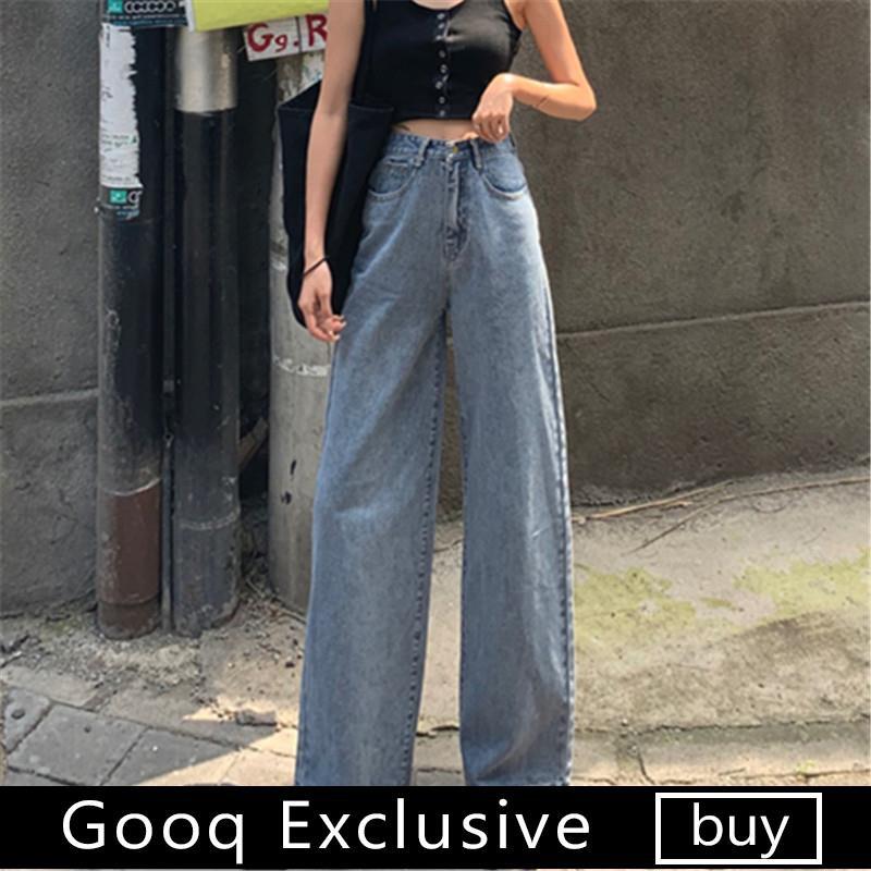 Quần jeans dài lưng cao ống rộng phong cách Hàn Quốc thời trang cho nữ - 14114420 , 2167962897 , 322_2167962897 , 503100 , Quan-jeans-dai-lung-cao-ong-rong-phong-cach-Han-Quoc-thoi-trang-cho-nu-322_2167962897 , shopee.vn , Quần jeans dài lưng cao ống rộng phong cách Hàn Quốc thời trang cho nữ