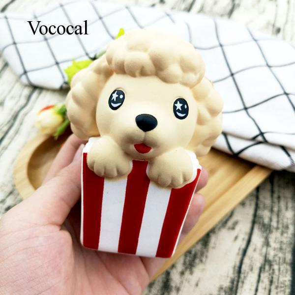 Soft Squishy Dog Poodle Toy Slow Rising for Kids Adults Relieves Stress Anxiety