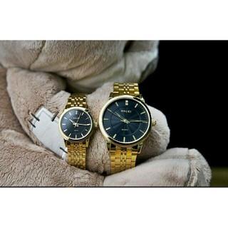 [GÍA 1 CẶP] Cặp Đồng hồ đôi Halei máy Nhật mạ vàng không ghỉ chống nước, chống xước. thumbnail